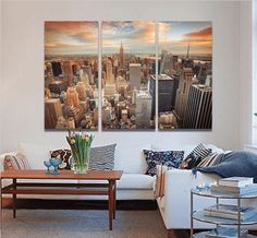 Style Your Home Today With This Amazing 3 Panel Modern New York City Framed Wall Canvas For $127.00  Discover more canvas selection here http://www.octotreasures.com  If you want to create a customized canvas by printing your own pictures or photos, please contact us.