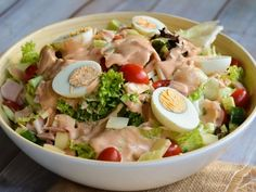 Chef Salad, Salad Bar, Cooking Time, Cooking Recipes, Healthy Recipes, Mediterranean Diet Recipes, No Cook Desserts, Potato Salad, Food And Drink