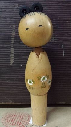 Small vintage kokeshi signed and dated