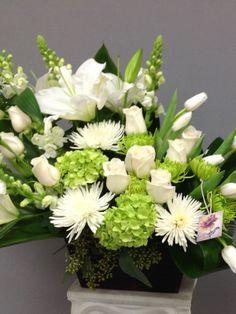 Flower Wreath Funeral, Funeral Flowers, Funeral Floral Arrangements, Flower Arrangements, Sympathy Flowers, Sprays, Centerpieces, Floral Wreath, Projects To Try