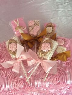 Ballerina birthday party Rice Krispie treats! See more party ideas at CatchMyParty.com!