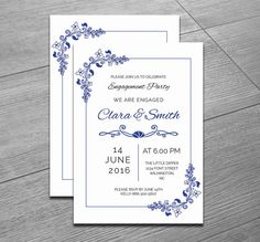 engagement invitation template word indesign and psd format graphic cloud