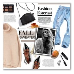 """""""Cozy fall sweater!"""" by lilymillyrose ❤ liked on Polyvore featuring MANGO, RED Valentino, NARS Cosmetics and Bobbi Brown Cosmetics"""