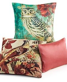 "Tracy Porter Owl 20"" Square Decorative Pillow"