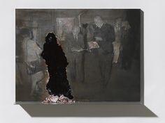 Nicola Samori, The Show, 2013, oil on wood, 30 x 40 x 7 cm