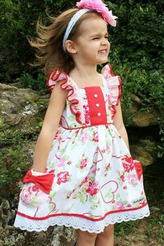 Welcome to Cheeky Plum where we specialize in childrens and baby boutique clothing! Frocks For Girls, Little Girl Outfits, Little Girl Fashion, Little Girl Dresses, Kids Outfits, Kids Fashion, Girls Dresses, Winter Fashion, Baby Frocks Designs