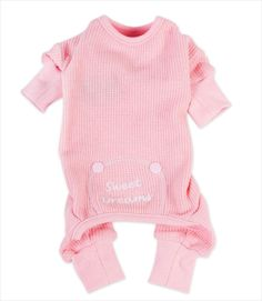 These adorable pink and blue sweet dreams pajamas are perfect for staying cozy warm in chilly weather. Made of thermal knit cotton for a soft, stretchy fit. Single piece pajamas have long legs with cu