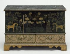Probably New York state, United States  Dimensions  Overall: 72.4 x 110.5 x 47cm (28 1/2 x 43 1/2 x 18 1/2in.)  Medium or Technique  Painted pine; brass