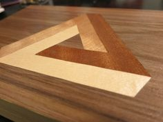 Marquetry | Wood doesn't grow on trees: Penrose Triangle Marquetry