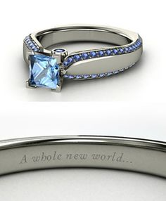 Blue Diamond Beautiful Ring