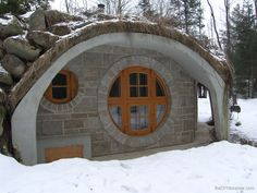 Love stone and wood, in any size structure, and have always loved circlular features