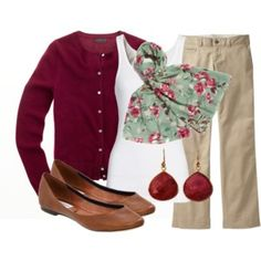 Teacher, Teacher 34 - Cardigan is my favorite color! Great outfit for work