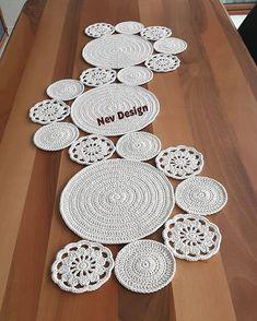 Crochet Table Runner, Crochet Tablecloth, Crochet Doilies, Hug Pictures, Crochet Carpet, Rope Basket, Crochet Designs, Crochet Projects, Lana
