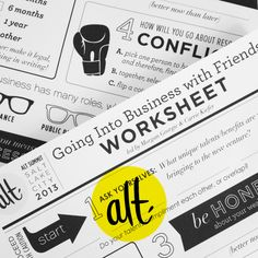 Going Into Business with Friends - Ampersand's Alt Summit 2013 Roundtable - notes + worksheet