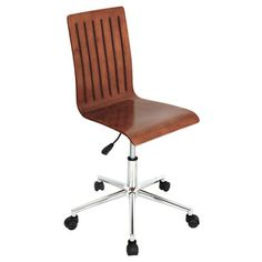 Bentley Wenge Chrome Office Chair By Lumisource