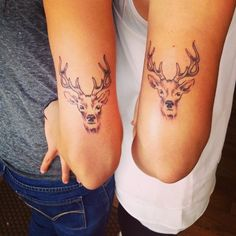 Pin for Later: 55 Creative Tattoos You'll Want to Get With Your Best Friend Deer to Me