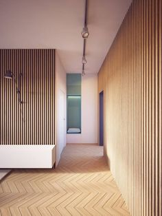 contemporary wood paneling for walls contemporary wood paneling modern apartment with two zones and amazing wood paneling contemporary wood paneling modern wood wall contemporary wood paneling for wal Espace Design, Design Loft, House Design, Wood Design, Wooden Screen Door, Modern Apartment Decor, Apartment Interior, Modern Apartments, Interior Design Minimalist