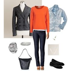 #68 OOTD 11/21/11 by bluehydrangea on Polyvore featuring FTC, Madewell, Old Navy, J.Crew, Betsey Johnson, Nordstrom, skinny jeans, ballet flats, blazers and coach