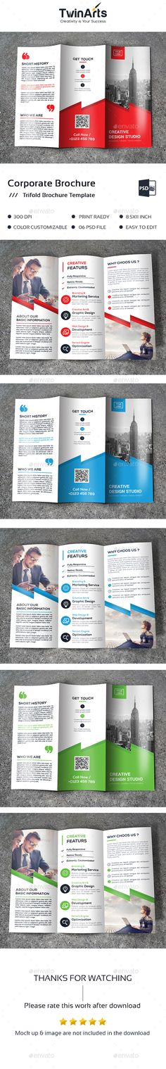 Corporate Trifold Brochure Template PSD. Download here: http://graphicriver.net/item/corporate-trifold/16667866?ref=ksioks
