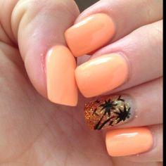 Malibu beach nails! #nails #nailart