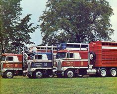 1972 & 1973 LeRoy Litt, Kenworth K00 COE's Cattle Haulers.