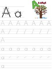 Cahier de 26 fiches à imprimer pour apprendre à écrire les lettres de l'alphabet en majuscules et minuscules d'imprimerie