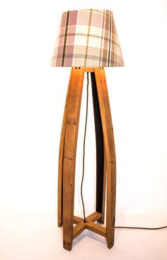 Handcrafted Whisky Barrel Table Floor Lamp. Revived from old Whisky Barrels and brought back to life with new purpose. Warm up your rustic cabin, home or den with this unique finishing touch. If you need more than one lamp just let me know. These are custom made so we can make as