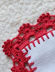 Crochet Cord, Crochet Towel, Crochet Quilt, Crochet Trim, Filet Crochet, Crochet Doilies, Crochet Flowers, Crochet Border Patterns, Crochet Boarders