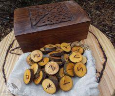 Handmade Honey Locust Elder Futhark Natural by OldWorldWitchery, $35.00
