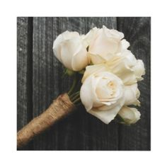 bridesmaid boquets simple but really cute....maybe a different white flower but I like the wrap holding everything together