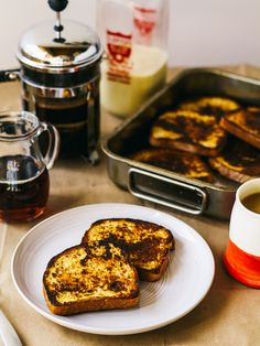 Saffron french toast (vegan)