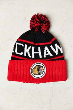 54bf043461d Mitchell   Ness Chicago Blackhawks Cuff Beanie