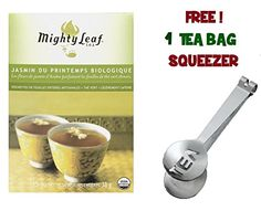 Mighty Leaf Tea  Organic Green Spring Jasmine With FREE Tea Bag Squeezer 1 Pack * Read more  at the image link.