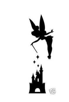 Tinkerbell love the silhouette tattoos. I want this so bad! My Aunty Jen knows me so well!!(: