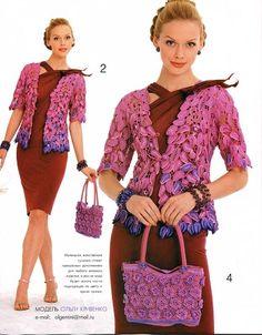 Zhurnal MOD Fashion Magazine 530 Russian knit and crochet patterns