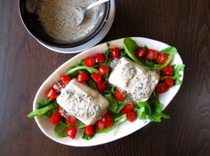 Japanese Tofu with Creamy Black Sesame Dressing