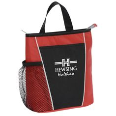 The vibrant colors of this promotional cooler are sure to get your logo noticed!