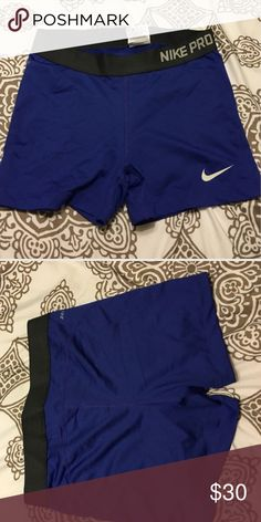 Nike Pro Tights Tights •Nike• Dri-Fit• Like New• worn once too short for me• Indigo color Nike Shorts