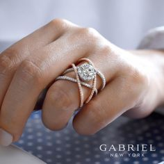A new way to wear your love. Discover this diamond engagement ring by Gabriel & Co. by clicking the link in our bio. · · · #GabrielNY #GabrielAndCo #NewYorkCity #EngagementRing #Bridal #NewYork #NYC #fwis #momentlikethis #livethelittlethings #lovedailydose #thehappynow #liveauthentic #diamonds #love #truelove #design #ringgoals Style #: ER13841