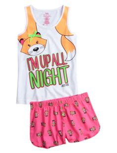 Up All Night Pajama Set | Girls Pajamas Pjs, Bras & Panties | Shop Justice