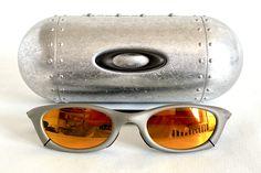 Vintage 2002 Oakley Mag Four S Plasma Sunglasses – Including Oakley Metal Vault – Made in USA // Free shipping, link in bio // #oakleymagfour #oakleymars #vintageoakley #oakleyoverthetop #oakleyjordan #jordanmars #oakleyxmetal Plasma, Magnesium, Vintage Sunglasses, Over The Top, Oakley, Free Shipping, Usa, 3d Shapes, Lenses