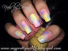 My Pretty Nailz: 4 Color Instant Ombre Sponge Gradient Nail Art Design and Video Tutorial