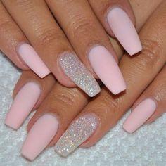 #pink #nails #nailpolish #beauty #amazing #fashion #pretty #gelish #silver