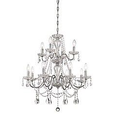 Big front entrance  chandelier