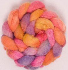 Spinning fibre BFL Tussah silk  Extra Soft fibre by YummyYarnsUK