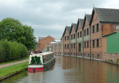 The old Joule's brewery buildings on the Trent & Mersey canal in Stone