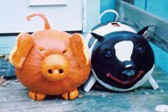 Susan Schwoch of Oak Bluffs, Massachusetts, who loves pigs, made a pumpkin porker to match her iron doorstop. What you'll need: pumpkin carving kit($5,amazon.com)