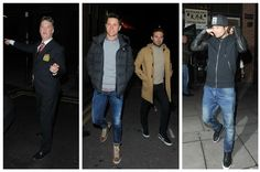LvG, Herrera & Mata, and Daley Blind celebrate their derby victory with a meal in town. 12.4.2015