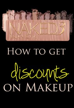 Find out how to get discounts on makeup and cosmetics brands