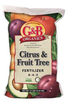 G&B Organics: Organic Citrus & Fruit Tree Fertilizer Citrus Trees, Fruit Trees, Grow Potatoes In Container, Organic Lawn Care, Humic Acid, Succulent Care, Organic Fertilizer, Plant Growth, Planting Succulents